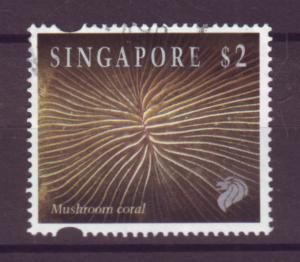 J21434 Jlstamp 1994 singapore part of set used #683 coral