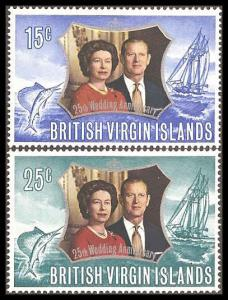 Virgin Islands (British) 241-242 Mint VF NH