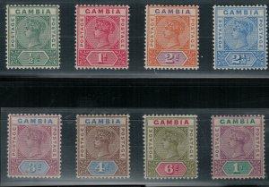Gambia SC 20-27 Mint 1898 SCV$ 153.00 Set