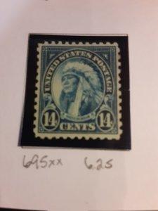 United States #695        MNH
