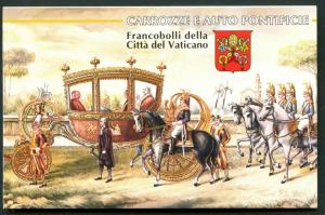 VATICAN Sc#1029a-1032a 1997 Papal Carriages Booklet Mint OG NH