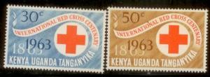 British East Africa 1963 SC# 142-3 M-hinged  L59