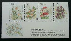 *FREE SHIP Ireland Garden Flowers 1990 Flora Plant (miniature sheet) MNH