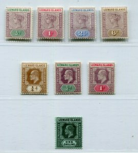 QV - KGVI LEEWARD ISLANDS LOVELY CLASSIC LOT ALL PERFECT MH
