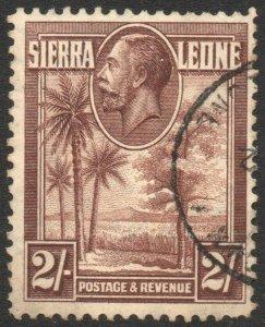 SIERRA LEONE-1932 2/- Chocolate Sg 164 FINE USED V42957