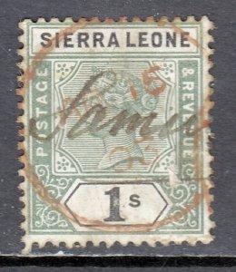 Sierra Leone - Scott #43 - Used - Toning, revenue cancel - SCV $22
