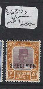 MALAYA  TRENGGANU   (PP1605B)  SULTAN 25C  SG 37S SPECIMEN  MOG