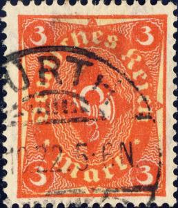 ALLEMAGNE / Deutsches Reich - 1922 - Mi.192 3M Used