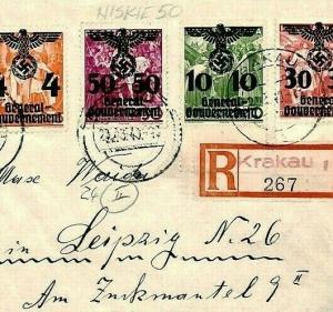 POLAND WW2 Cover Germany 1940 *Krakau* General Government {samwells-covers} CU3