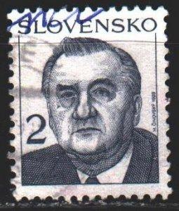 Slovakia. 1993. 166. Kovacs, President of Slovakia. USED.