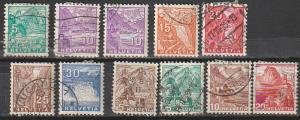 #220-25,228,230B,232 Switzerland Used