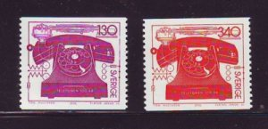 Sweden Sc 1157-8 1976 First Telephone Call stamp set mint NH