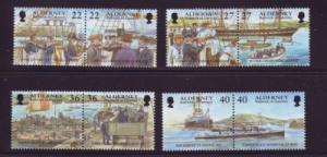Alderney Sc 176-83 2001 Garrison Island stamp set mint NH
