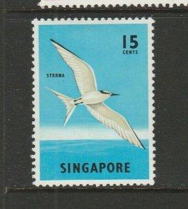 Singapore 1962/6 Defs 15c Bird MM SG 70a