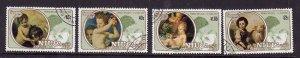Niue-Sc#360-3- id5-used set-Paintings-Christmas-Princess Diana-1982-