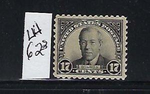 US #623 1925-26 REGULAR ISSUE 17C (BLACK ) PERF 11 - MINT LIGHT HINGED