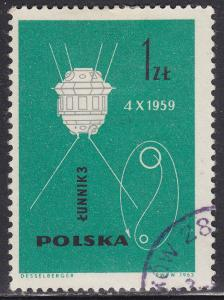 Poland 1182 USED 1963 The Conquest of Space 1.00zł