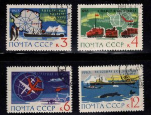 Russia Scott 2779-2782  Antarctic Research set CTO typical cancels