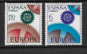SPAIN - EUROPA 1967 - SCOTT 1465 TO 1466 - MNH