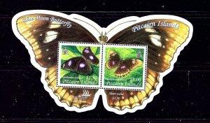 Pitcairn Is 615 MNH 2005 Butterflies S/S