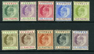 CYPRUS-1902-4  A mounted mint set to 45pi Sg 50-59