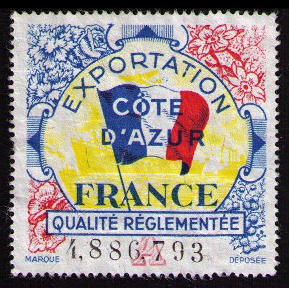 FRANCE REVENUE EXPORTATION COTE AZUR QUALITÉ RÉGLEMENTÉE QUALITY CONTROL