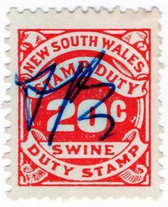 (I.B) Australia - NSW Revenue : Swine Duty 20c
