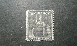 Barbados #21 used unwmk perf 14 crease e205 9448