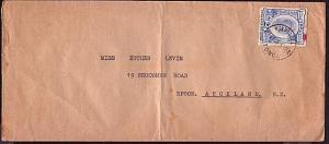 TONGA 1936 2½d on cover to Auckland - Nuku'alofa cds..................33804