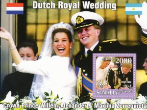 Somalia 2002 Dutch Royal Wedding Prince Willem & Maxima Zorreguieta SS (1) MNH