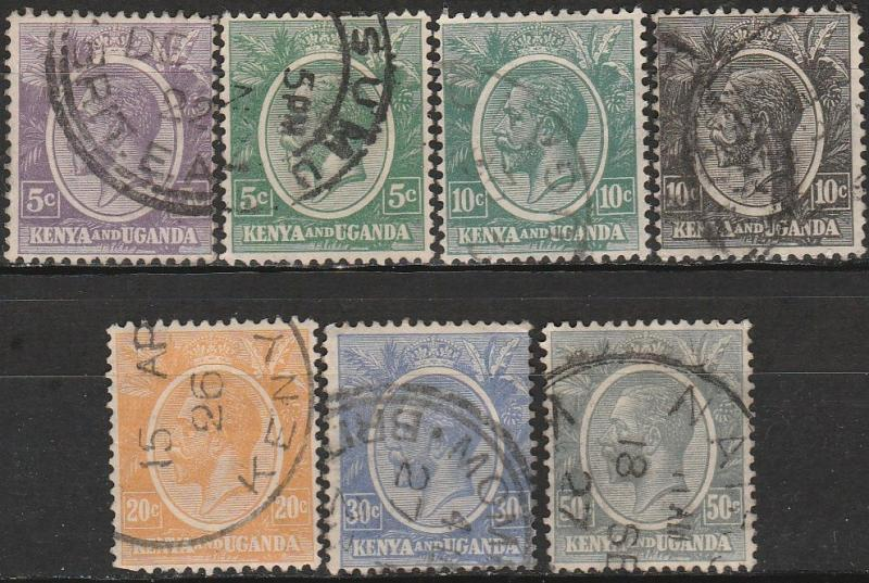 KUT #19-22, 25-7 F-VF Used CV $3.25 (A17610)