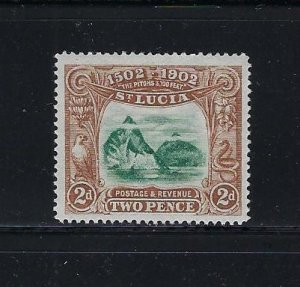 ST. LUCIA SCOTT #49- 1902 FOURTH CENTENARY OF DISCOVERY -MINT HINGED