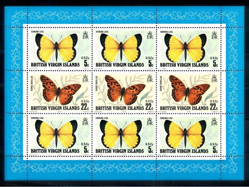 [71231] British Virgin Islands 1978 Insects Butterflies Souvenir Sheet MNH