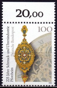 Germany. 1992. 1628. Watch production. MNH.