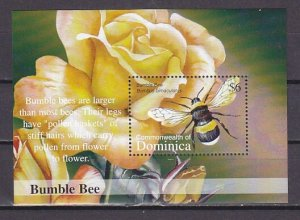 Dominica, Scott cat. 2383 only. Bumble Bee s/sheet. ^