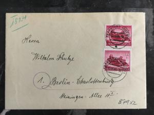 1944 Frankfurt Oder Germany Cover To Meiningen
