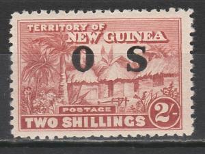 NEW GUINEA 1925 HUT OS 2/- TOP VALUE