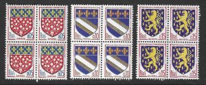 France 1040-1042  MNH  Complete