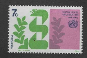 AUSTRALIA Scott 545 MH* 1972 WHO Malaria Eradication stamp