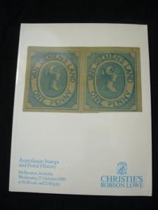 CHRISTIES LOWE AUCTION CATALOGUE 1990 AUSTRALASIAN