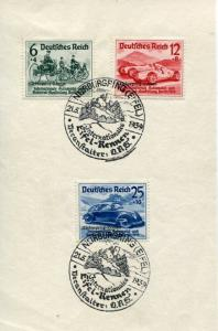 Germany #B141-43 on card - special race cancel