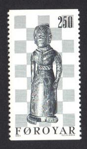 Faroe Islands 1983 MNH chest piece  250 ore  queen  #