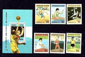 Benin 857-93 MNH 1996 Sports Complete set