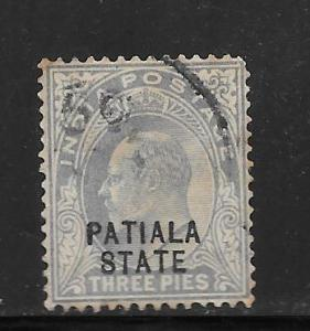 India Convention States Patiala #31 Used Single