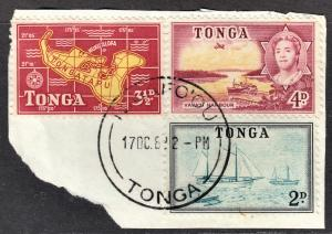 Tonga Scott 102, 104, 105  F to VF postally used with a splendid SON cds.