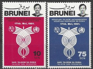 BRUNEI SC#260-261 ITU Telecommunications Day (1981) MNH