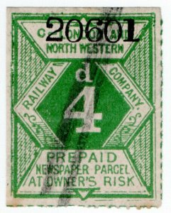 (I.B) London & North Western Railway : Newspaper Parcel 4d (series C)