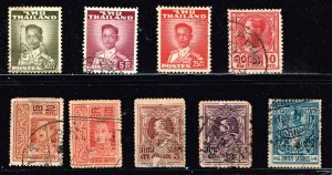 THAILAND STAMP SIAM  USED STAMPS COLLECTION LOT