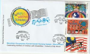 Malaysia 2013 Celebrating Abilities of Children with Disabilities FDC SG#1978-80