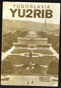 QSL QSO RADIO CARD YU2RIB,Mirko Vladic, Yugoslavia (Q2573)